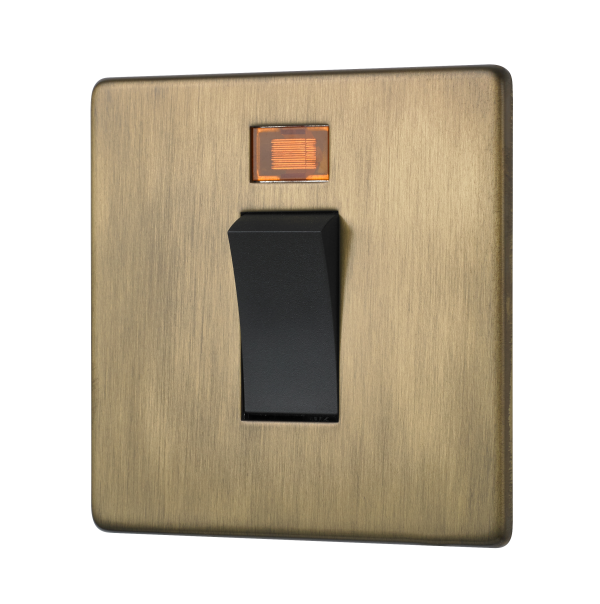 Penthouse 45 Amp cooker switch in Burnished Brass