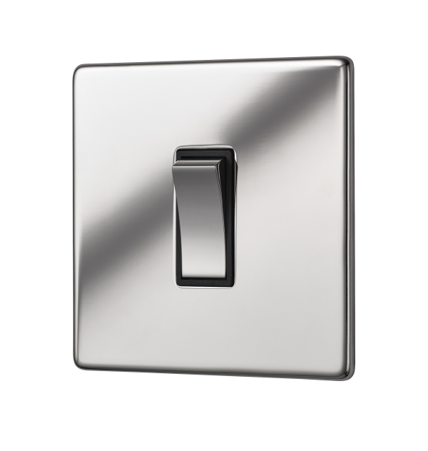 Penthouse single 2 way rocker switch in bright nickel
