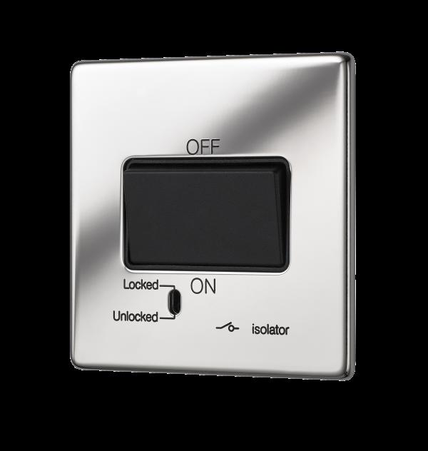 Penthouse Fan Isolator Switch in Bright Nickel