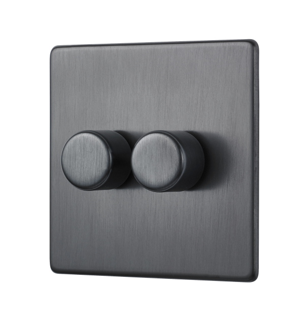 Penthouse Double 120W LED dimmer switch in Dark Antique Bronze