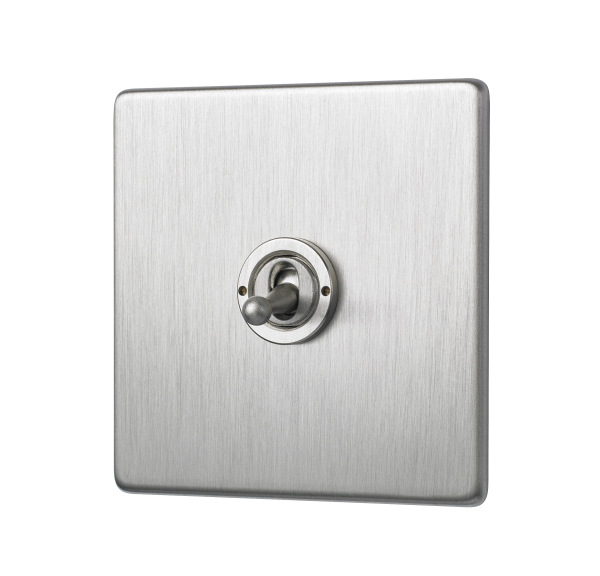 Penthouse single 2-way toggle switch in satin nickel