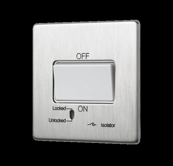 Penthouse fan isolator switch in Satin Nickel