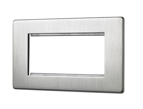Penthouse quad euromod plate in Satin Nickel