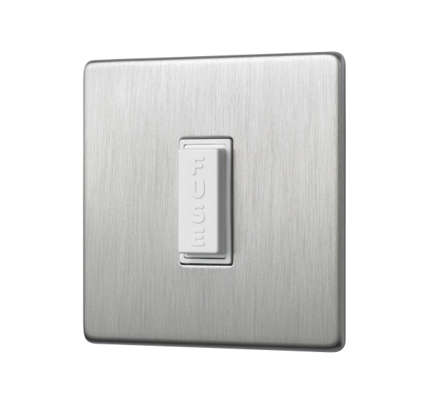 Penthouse unswitched fused connection unit in satin nickel