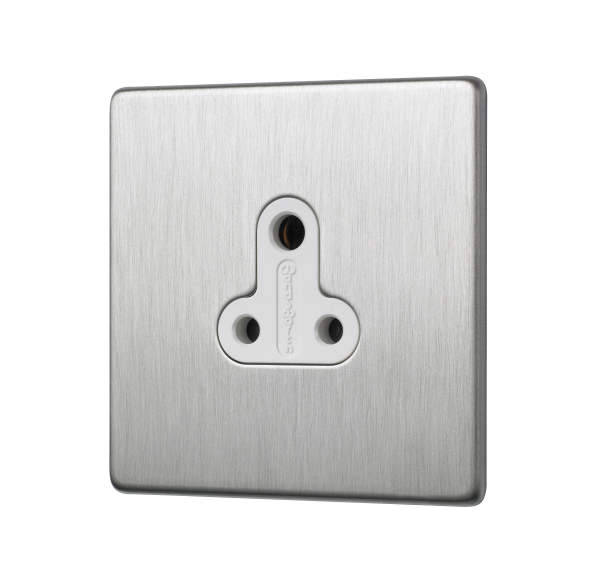 Penthouse 5 AMP unswitched socket in satin nickel