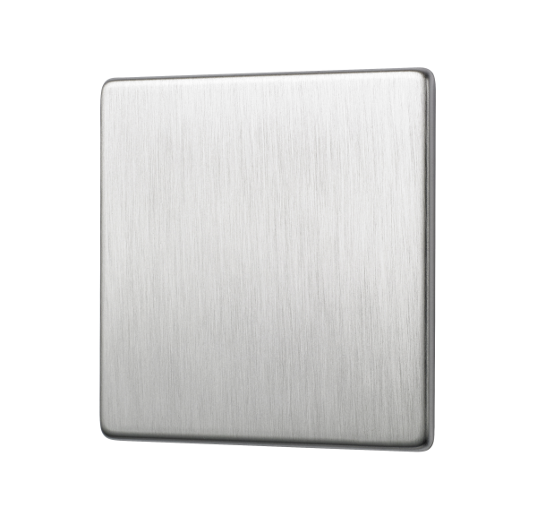 Penthouse single blank plate in Satin Nickel