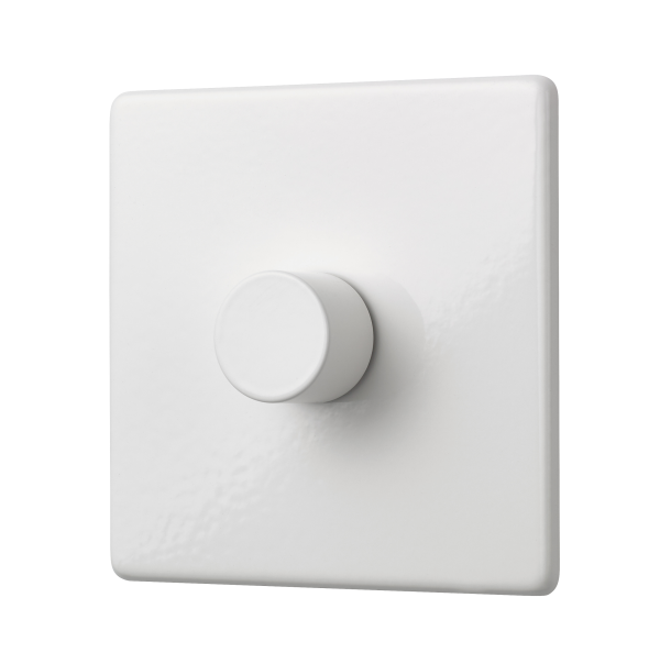 Penthouse single 120W LED dimmer switch in white