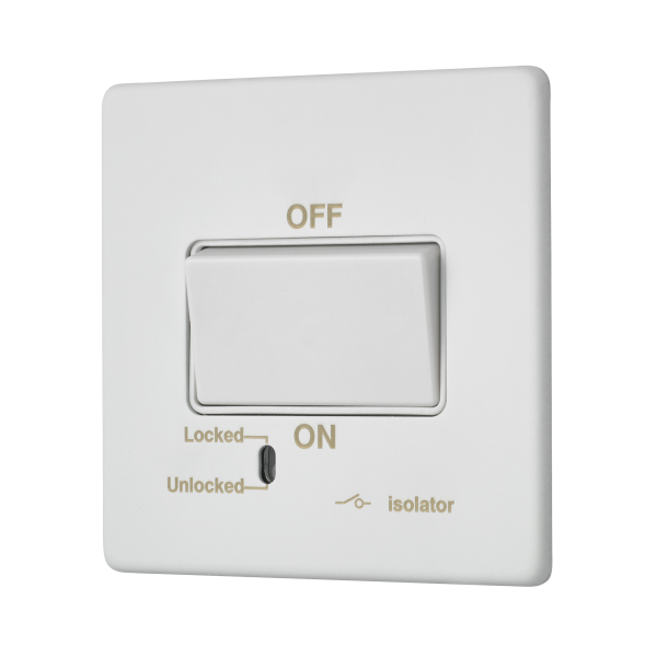 Penthouse fan isolator switch in white