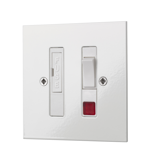 Square-edge switch fused light switch