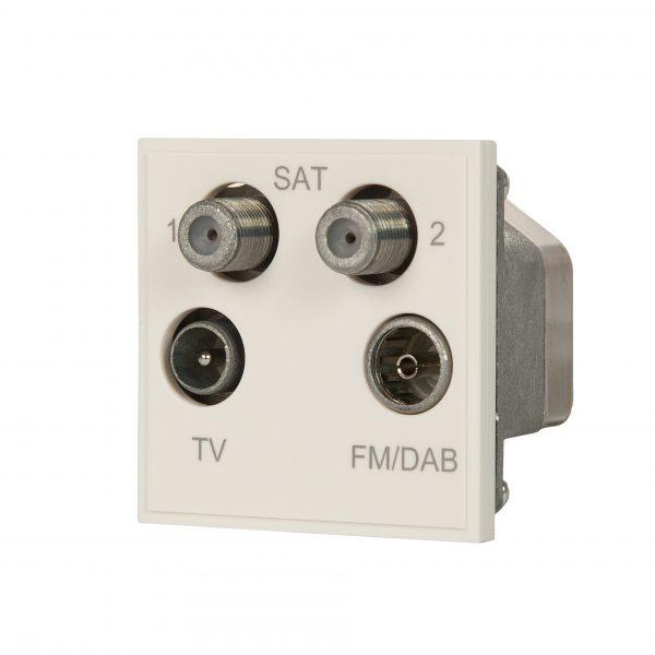 White Quad TV, Satellite and Radio Module
