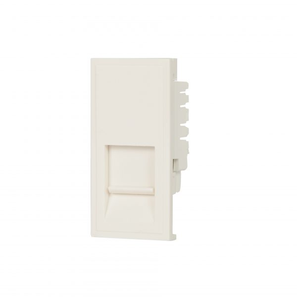 CAT5E inset in our White Classic finish