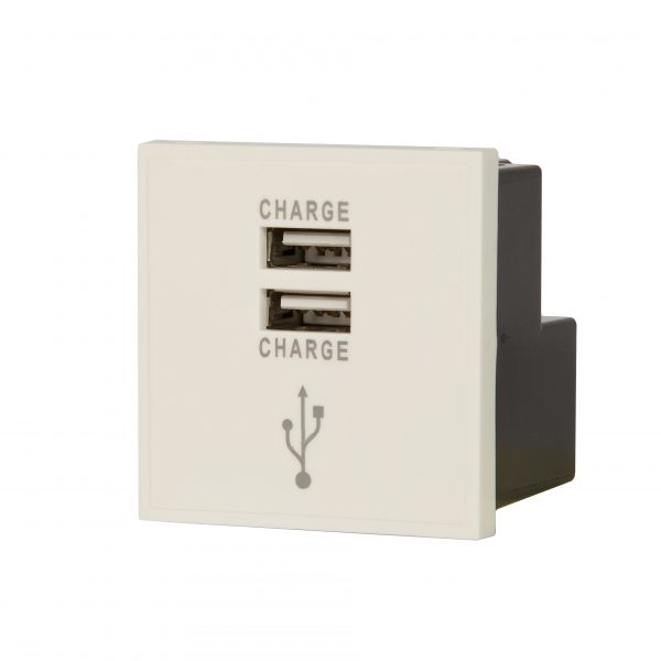Our USB Twin Charger Module in White