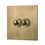 Our square-edged double toggle switch unit