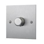 Square-edged single dimmer switch