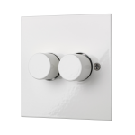Square-edged dual dimmer switch