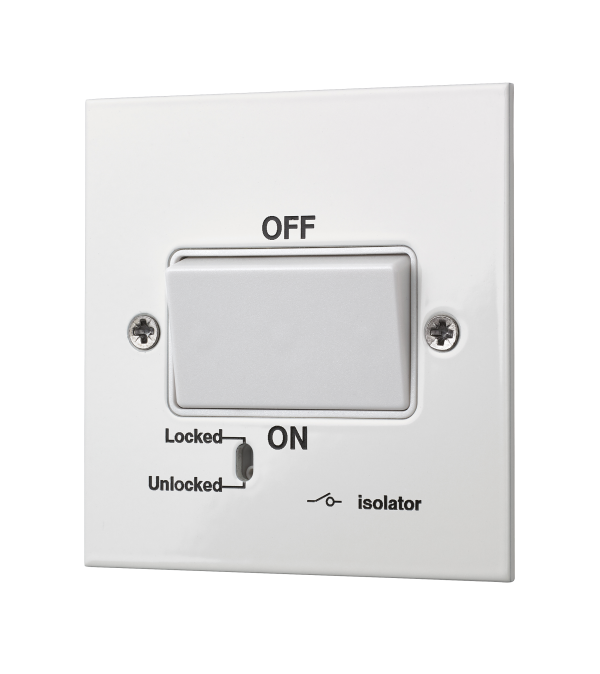 Our square-edged fan isolator switch