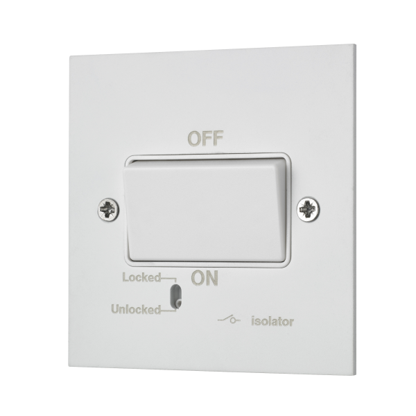 Square-edged fan unit switch