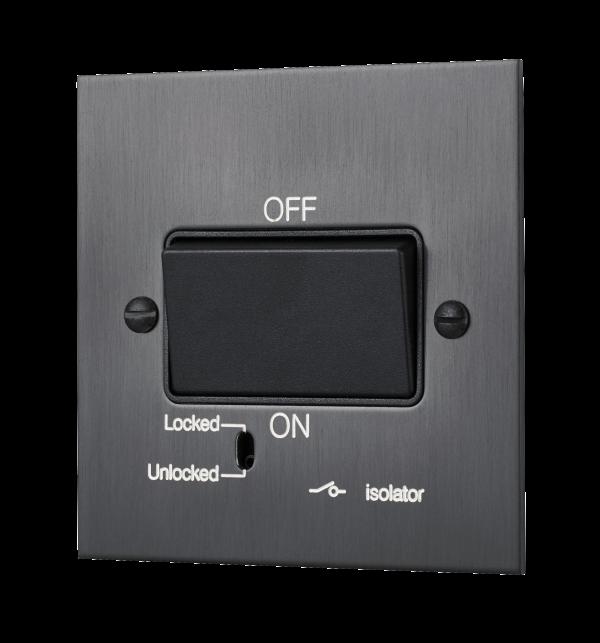 Square-edged fan unit switch