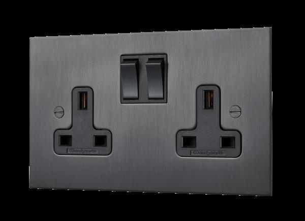 Our Matt Black Square-Edged Power Socket