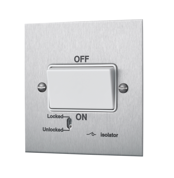 Square-Edged Fan Isolator Switch