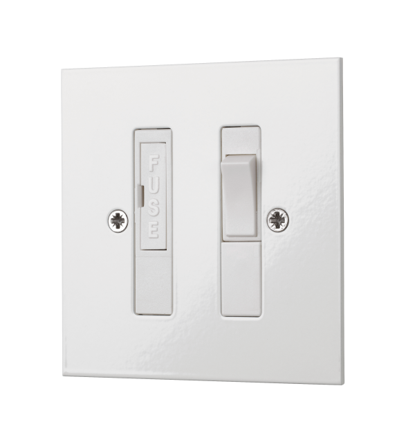 Our white Square-Edged Switched Fused Connection Unit