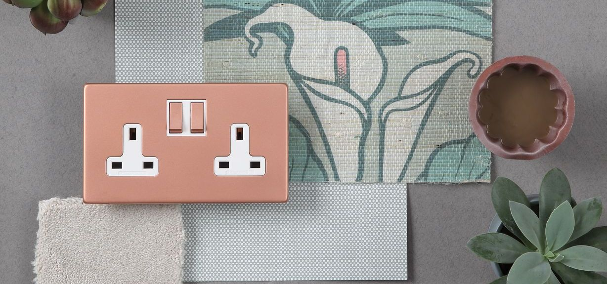 Pearl Copper Infinity twin switched socket moodboard (4) (1) (1)